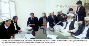 11-1-2016 Minister Law Imtiyaz Shahid Qureshi talking to the delegation