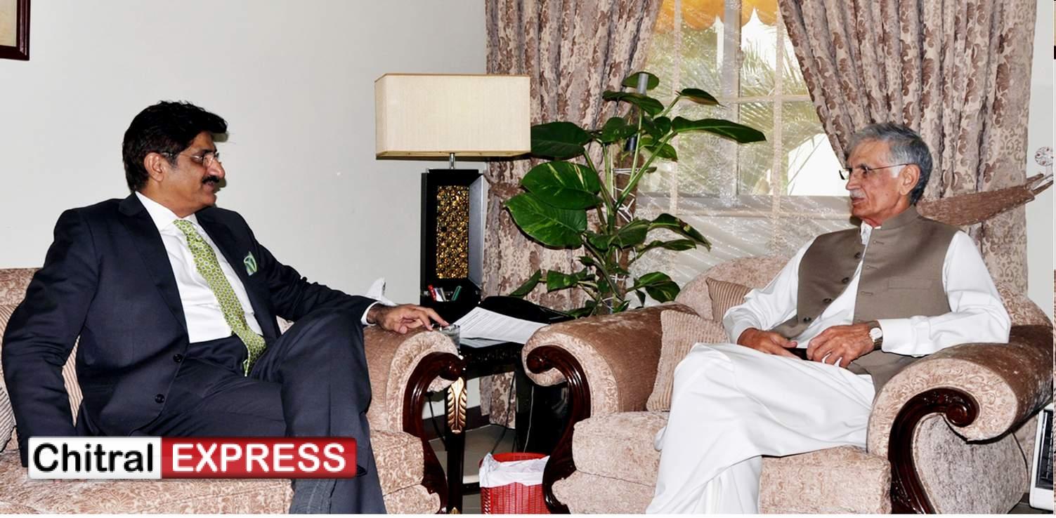 Photo of سند ھ کے وزیر اعلیٰ سید مراد علی شاہ کا خیبرپختونخوا کے وزیراعلیٰ پرویز خٹک سے ملاقات